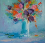 Des fleurs dans mon coeur, Renée Allard, 14 x 14WP