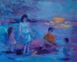 Promenade à la plage, Renée Allard, 20 x 24WP