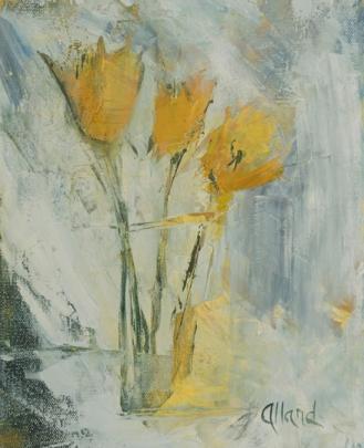 Fleurs jaunes 10 x 8 VENDU
